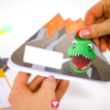 Dinosaur Invitation Card - glue together