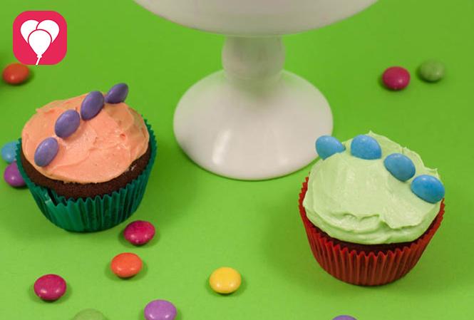 Dinosaurier Cupcakes - balloonas