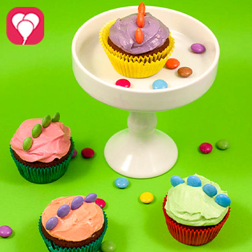 Dinosaurier Cupcakes - balloonas.com