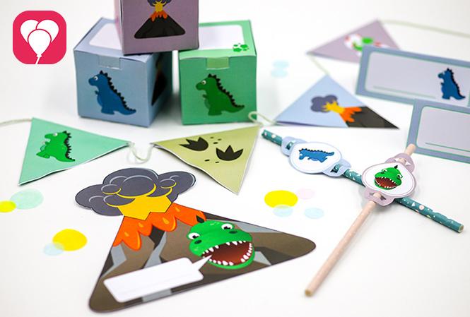 Dinosaurier Cupcakes und Geburtstagspaket