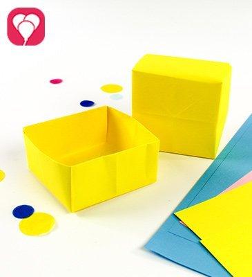 Geschenkbox falten