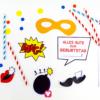 Superhelden Photo Booth - ausschneiden