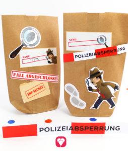 Detektiv Geburtstagspaket Basic - Geschenkaufkleber