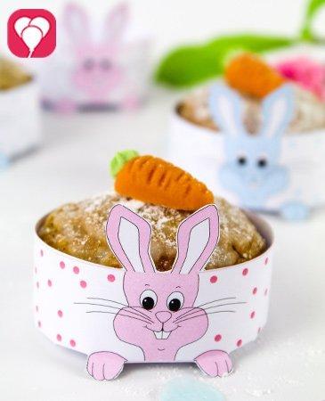 Hasen Cupcake Deko für Ostern