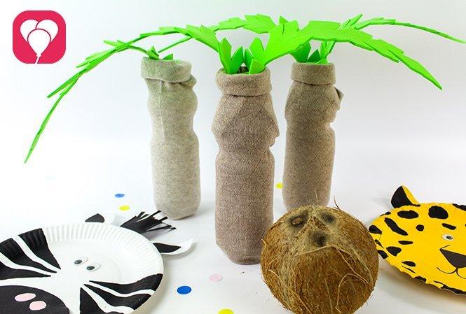 Kokosnuss Kegeln beim Safari Kindergeburtstag