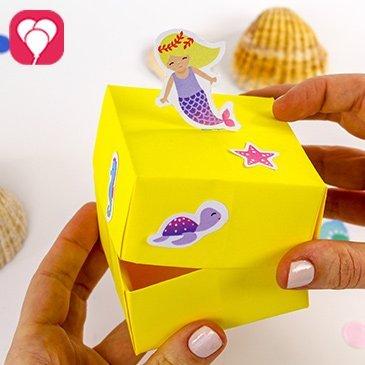 Meerjungfrau Schachtel basteln - balloonas