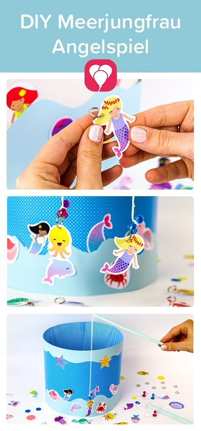 Meerjungfrau Angel Spiel selber machen - Pin