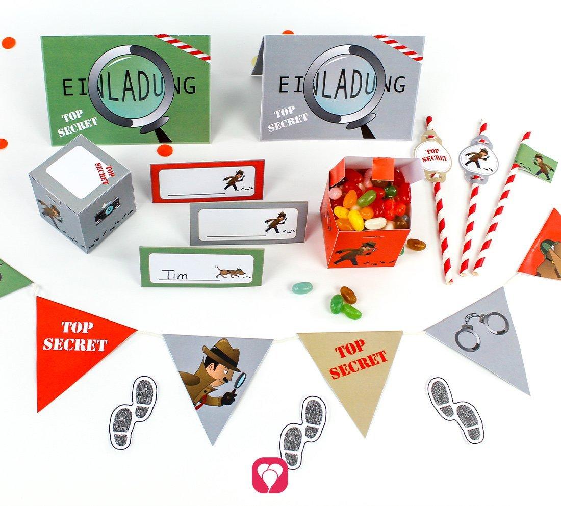 Geburtstagspaket für Deinen Detektiv Kindergeburtstag
