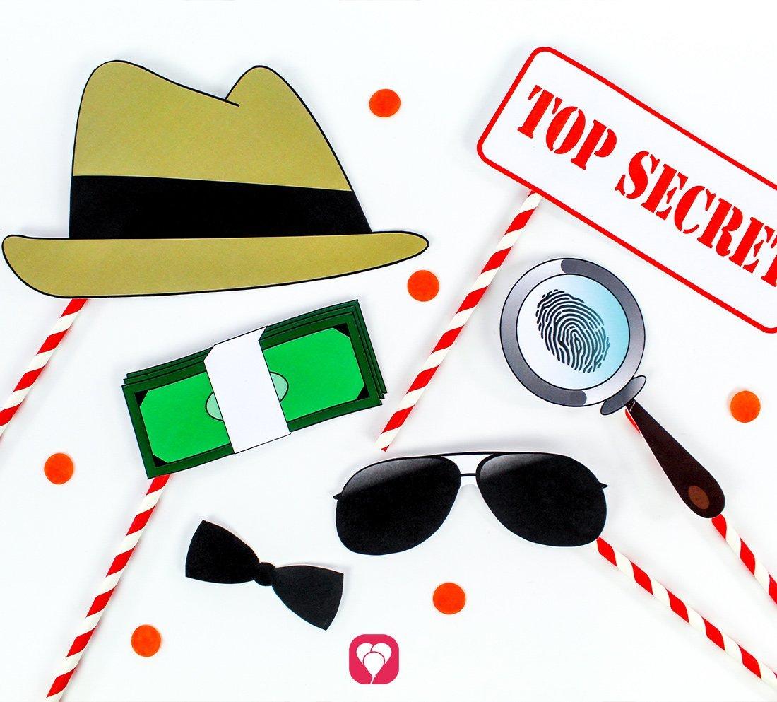 Coole Photo Booth für Deinen Detektiv Geburtstag