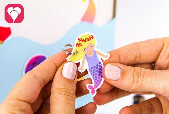 Meerjungfrau Angel Spiel selber machen - Meerjungfrau mit Ring
