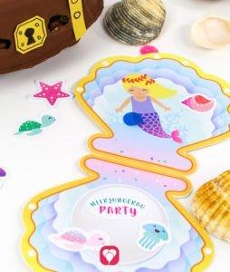 Meerjungfrau Geburtstagspaket - Einladung