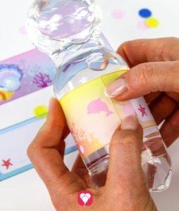 Meerjungfrau Flaschenetiketten - Flaschenetiketten kleben