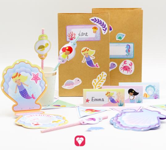 Meerjungfrau Geburtstagspaket Basic - balloonas