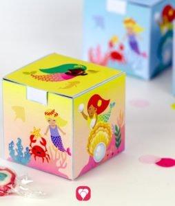 Meerjungfrau Geschenkbox - balloonas