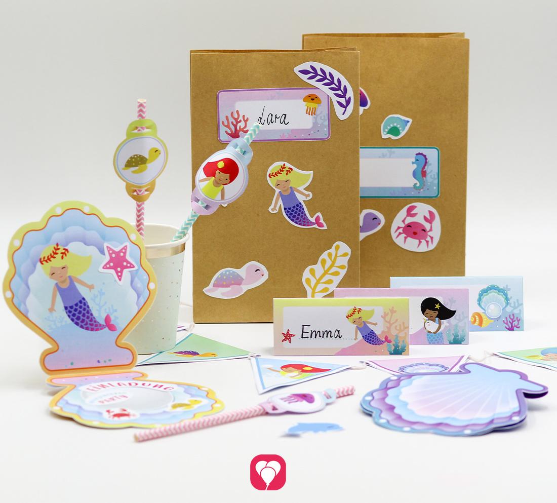 Meerjungfrau Geburtstagspaket - Basic
