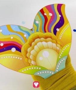 Meerjungfrau Spiel - Flosse auf Socken kleben