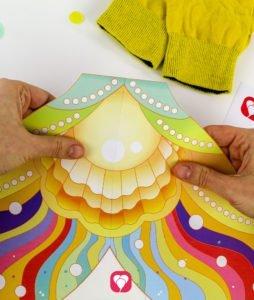 Meerjungfrau Spiel - Flosse zusammenkleben