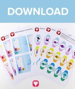 Meerjungfrau Tischkarten und Strohhalmdeko - Download