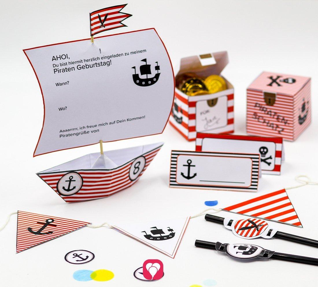 Piraten Geburtstagspaket - Basic
