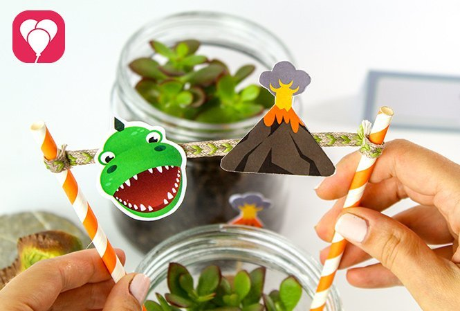 Dinosaurier Glas Mini Jurassic Park