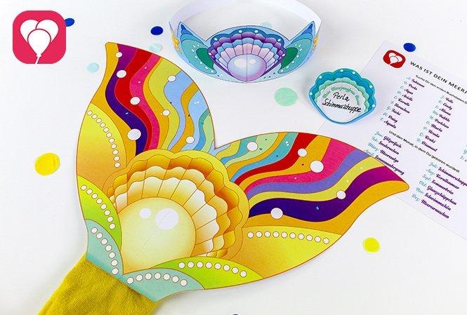 Partyspiele für Kinder im Sommer - Meerjungfrau Verkleidungsspiel
