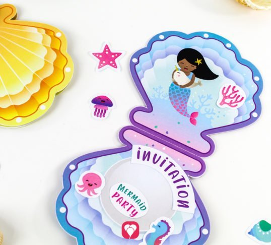 Mermaid Invitation - balloonas