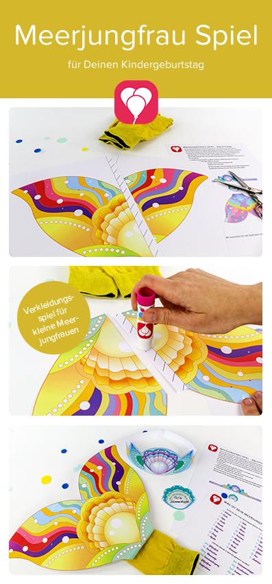 Partyspiele für Kinder im Sommer - Meerjungfrau Spiel