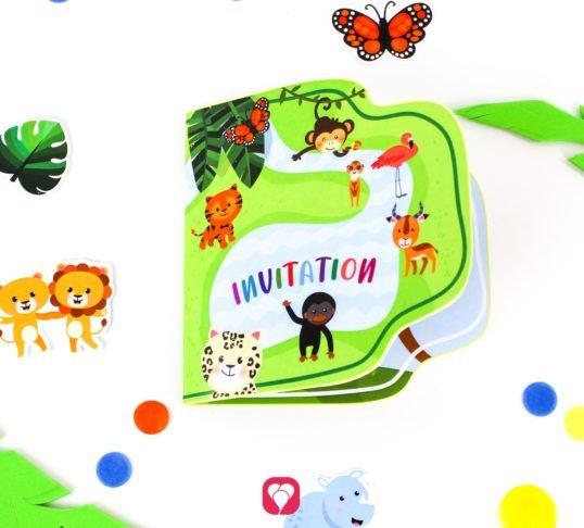 Safari Invitation - balloonas