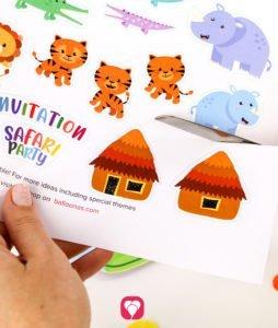 Safari Invitation stickers