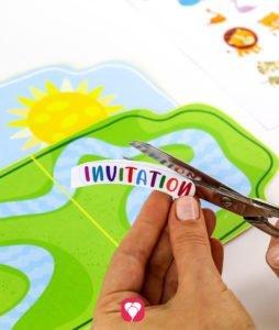 Safari Invitation - cut out stickers