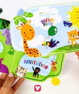 Safari Invitation - front and back
