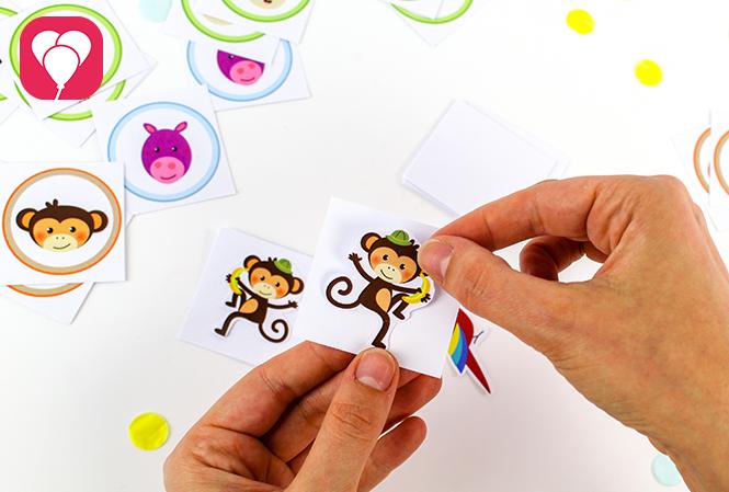 Safari Memory Spiel - aufkleben