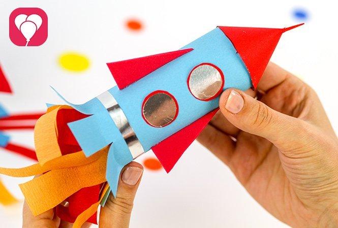 Raketen Geschenkverpackung für den Weltraum Geburtstag