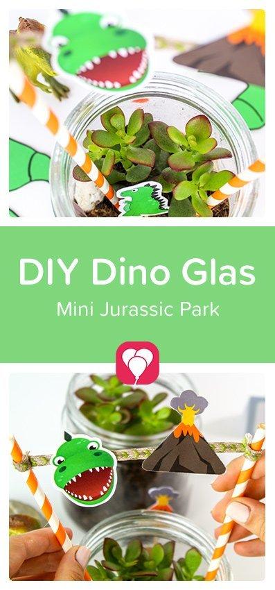 DIY Dino Glas selber machen - balloonas