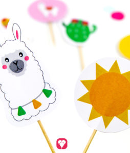 Llama Party Picks - balloonas