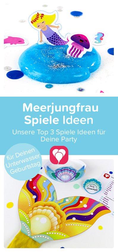 Meerjungfrau Geburtstag Spiele Pin
