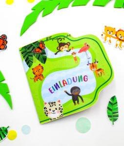 Safari Geburtstagspaket - Einladungskarte