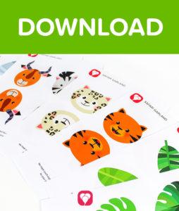 Safari Spiral Garland - Download