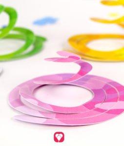 Safari Girlande - Spiralen in verschiedenen Farben