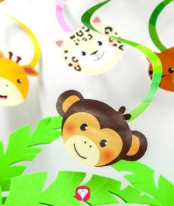 Safari Geburtstagspaket - Spiralgirlande