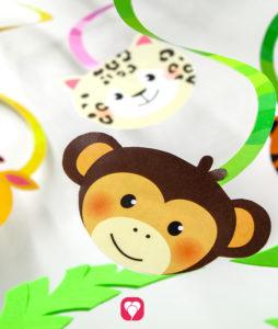 Safari Spiral Garland - balloonas