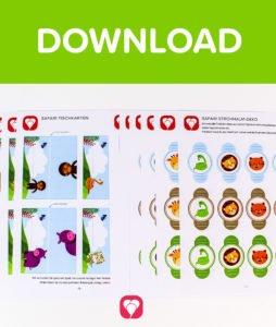Safari Tischkarten und Strohhalmdeko - Download
