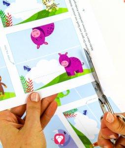 Safari Tischkarten und Strohhalmdeko - Vorlage ausschneiden