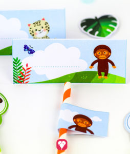 Safari Place Cards and Straws - balloonas