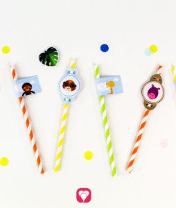 Safari Place Cards and Straws - straws