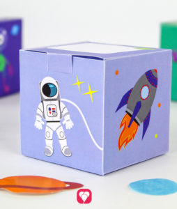 Space Gift Box - balloonas