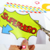 Superhero Photo Booth - cut out