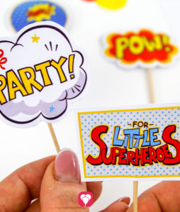 Superhero Party Picks - balloonas