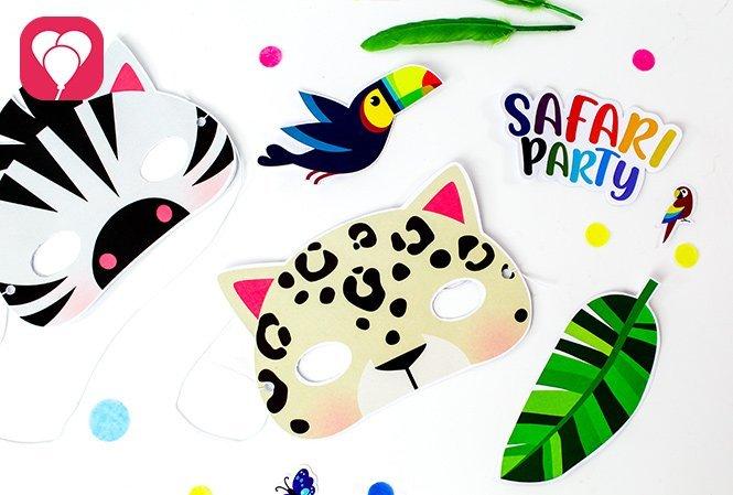 Tierische Masken basteln für den Safari Kindergeburtstag