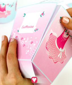 Ballerina Candy Bar - Snacktüte kleben
